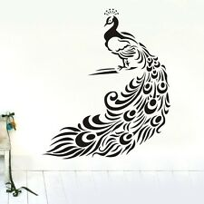 One Large Peafowl Wall Decor Removable Vinyl Decal Kids Sticker Art DIY Mural