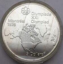 Canada 5 dollars JO Montréal 1976 argent #1049