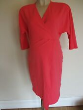 KATIE PIPER WANT THAT TREND MATERNITY CORAL FIXED WRAP PARTY FORMAL DRESS SIZE 6