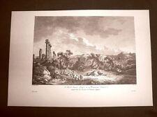Agrigento o Girgenti Vedute Monumenti antichi Voyage Pittoresque di Saint Non