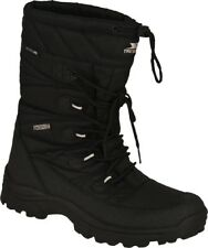 Trespass Yetti Mens Waterproof Snow Boots Breathable & Warm in Black