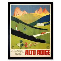 Travel Alto Adice Tyrol Alpine Trentino Italy Vintage Advertising Framed Print