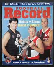 1996 Ansett Cup Grand Final St Kilda vs Carlton Football Record