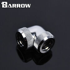 "Barrow G1/4"" Silver 90 Degree Dual Compression Fitting For 12mm Rigid tube -52"