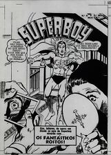 Superboy 145 NEAL ADAMS Acetate Proof Cover Art 1968 Fantastic Faces Brazil #43