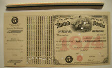 "1874 $5 US Internal Revenue Stamp for Dealer in Manufactured Tobacco 14""x 7 1/8"""