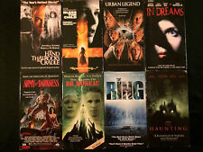 VHS LOT 8 TOTAL * THE HAUNTING * THE RING * ARMY OF DARKNESS * BLESS THE CHILD *