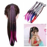 4 Colors Girls Headband Twist Braid Rope Rubber Band Hair Accessories Kids Wig