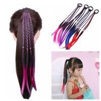 4 Colors Girls Headband Twist Braid Rope Rubber Band Hair Accessories Kids Wig