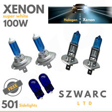 W5W H1 H7 100w HID WHITE XENON Car Head Lamp Side light Bulbs Set Main Beam