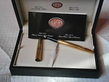 AURORA 98 PENNA STILOGRAFICA MILLERIGHE ORO 22K + LIBRETTO '90 Fountain Pen +box