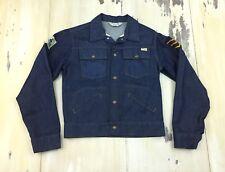 JCPENNEY: Vtg 70s Selvedge Denim Blue Jean Jacket, Patches, Boys MED Women SMALL