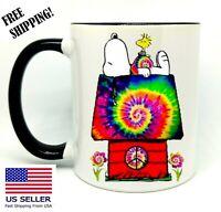 Snoopy, House, Birthday, Christmas Gift, Black Mug 11 oz, Coffee/Tea