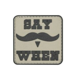 Tru Spec 6652000 Say When Mustache Brown Tactical Morale Patch