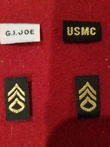 Gi Joe 1964/67 Marine Sgt Jungle Fighter Patches