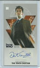 Topps Doctor Who Tenth Doctor Adventures David Tennant Bronze Autograph #ed / 25