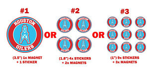 Houston Oilers sticker + magnet pc Fridge games Sport Magnets ps + NEW Stickers