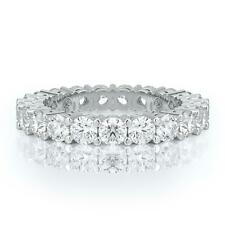 Eternity Band 3 Carat Diamonds 100% Natural Diamond Wedding Ring 14K White Gold