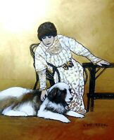 Sarah Bernhardt- Fine Art Print by Marianne L'Heureux- gold added