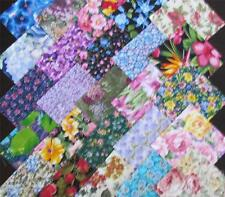 5-Inch Cotton Fabric Squares, Quilting & Crafts; Pkg of 100; Floral Assortment