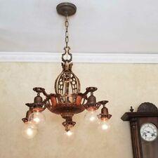 726b Vintage Antique 30's aRT Nouveau Gothic Ceiling Light  Chandelier