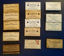 Vintage Military First Aid Supplies/Bandages Multiple Sizes Plus Extras