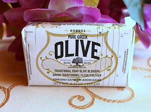 KORRES  OLIVE BLOSSOM traditional soap 125g. Pure Greek olive from Crete