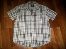 mens checked short sleeved shirt size L