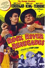 ROCK RIVER RENEGADES Movie POSTER 27x40 Ray Corrigan John Dusty King Max Terhune