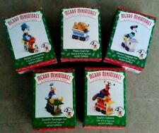 Set of 5 Hallmark Keepsake Ornament Mickey & Co. Merry Miniatures Mickey Express