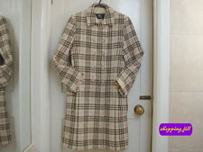 AUTH Vintage Burberry Nova Check Beige Colour Wool Coat Children Size 12 Year