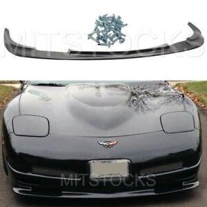 Fits 97-04 Corvette C5 ZR1 Style ADD-ON Front Bumper Lip Spoiler Chin PU