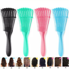 Massage Hair Brush Comb Detangle Combing Wet/Dry Curly Natural Hair Styling Tool