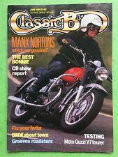 CLASSIC BIKE - GIUGNO 1989 - 350cc & 500cc Featherbed Manx Nortons - MOTO