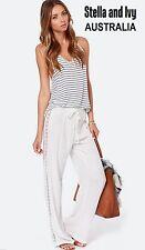 new white boho harem slouch pant size 8 womens au
