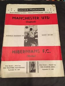Hibernians FC 1980//81 v Waterford FC ECWC match programme