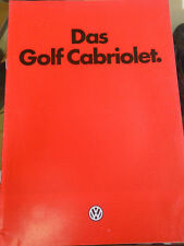 VW Golf Cabriolet brochure Jan 1985 German text
