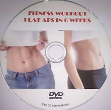 FLAT ABS FITNESS WORKOUT DVD 6 pack fat burner exercises belly cardio fit 027