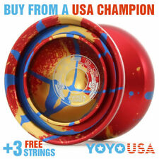 Duncan Wind Runner Metal Yo-Yo YoYo  - Red / Blue / Gold 9256SE-E + FREE STRINGS