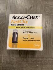 New Accu-Check fastclix lancets - 100+2 ea Exp 08/31/2023
