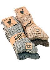 2Paar Alpaka Wolle Socken Wollsocken Wintersocken Norweger gestrickte Skisocken