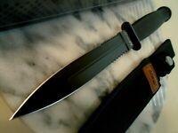 "Mtech Blackout Dual Combo Edge Dagger Combat Hunter Knife 440 11 1/2"" 225 New"
