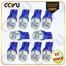 10pcs Ice blue T10 5SMD 5050 LED Map light bulbs W5W 194 168 For Toyota Camry