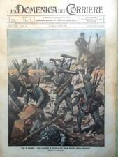 La Domenica del Corriere 2 Aprile 1916 WW1 Battaglia Verdun Serbia Roma Lubiana