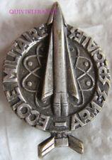IN12952 - INSIGNE Ecole Militaire des Armes Spéciales, dos guilloché embouti