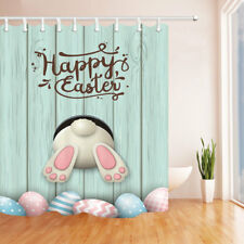 Rabbit Ass and Eggs Easter Themed Fabric Shower Curtain Bathroom Waterproof 71""