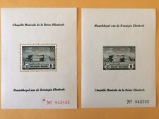 Belgium #B317 and B318 souvenir sheets with perforated monograph - Mnh