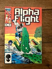 Alpha Flight Marvel Comic Book #41 March 1987 VF