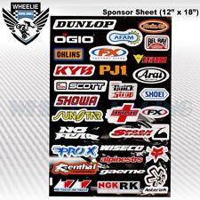 MOTOCROSS MOTORCYCLE DIRT BIKE ATV HELMET SPONSOR LOGO RACE STICKER DECAL #T8K6A