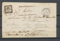 1864 Lettre Mostaganem, C 15 obl. 15c taxe + plume rouge ALGERIE X4576